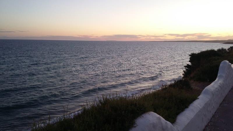 Mar Chubut Rio Negro de Argentina fotografia de stock