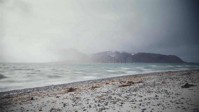 Mar chuvoso imagem de stock