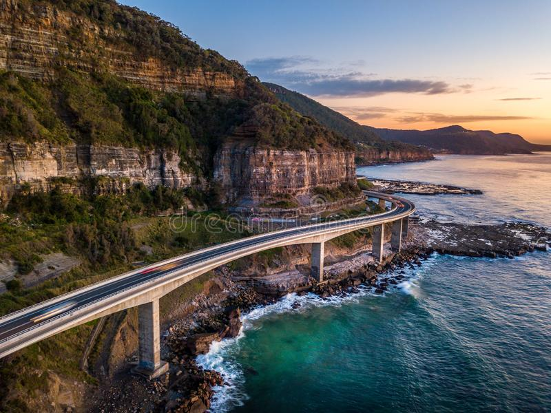 Mar Cliff Bridge Australia foto de stock