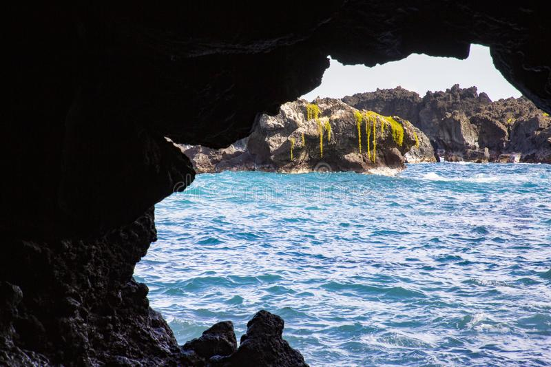 Mar da caverna foto de stock royalty free