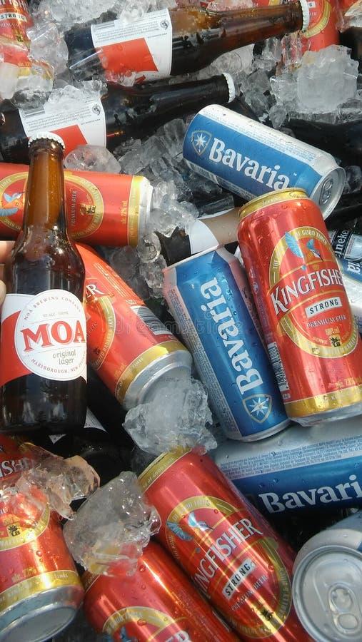 Mar da cerveja imagem de stock