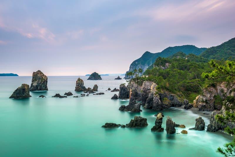 Mar da costa de japão imagem de stock