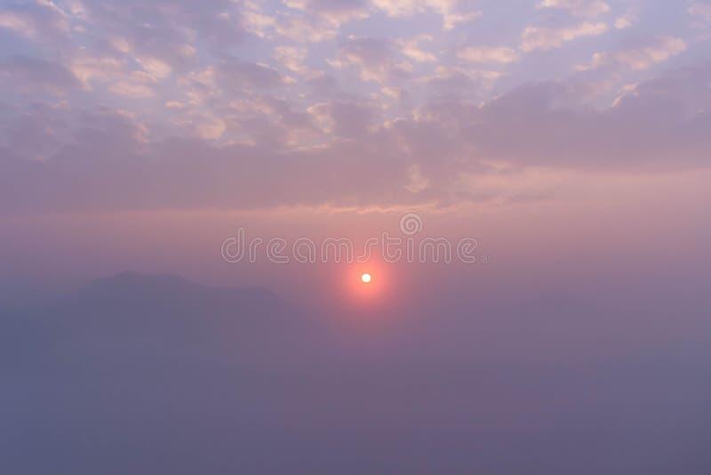 Mar da névoa foto de stock