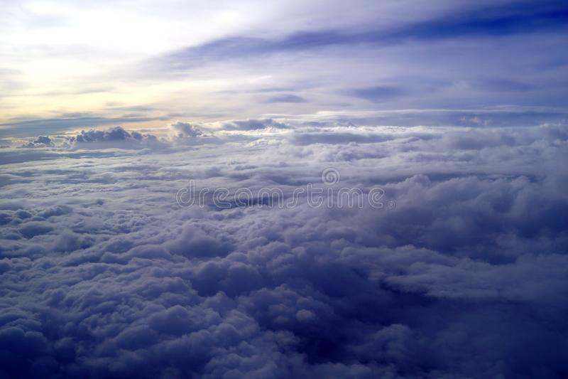 Mar das nuvens fotos de stock