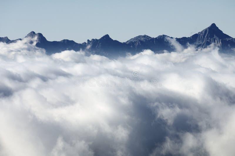 Mar das nuvens fotografia de stock royalty free