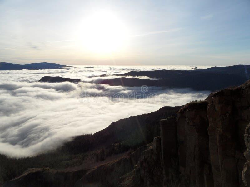Mar das nuvens imagem de stock