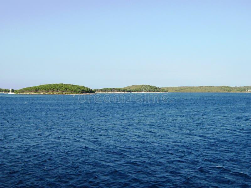 Mar de adriático bonito, ilha Solta foto de stock