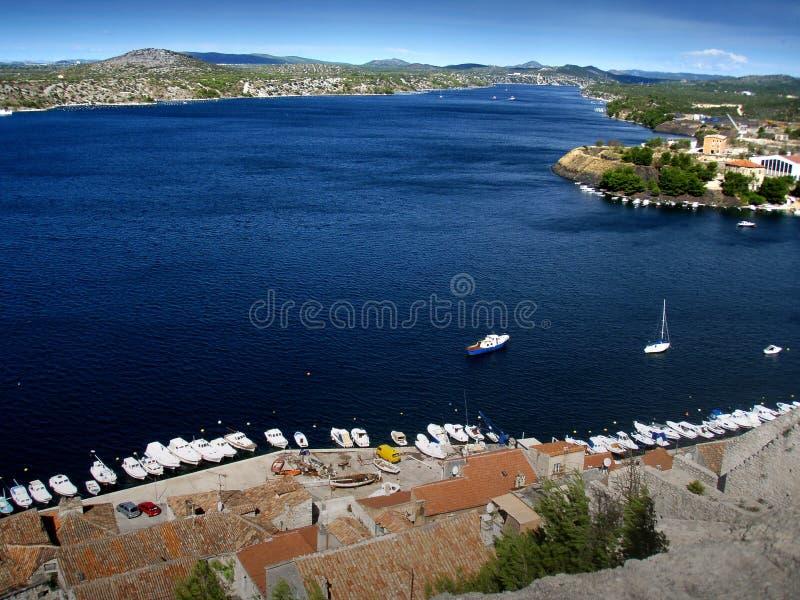 Mar de adriático - Croatien fotografia de stock