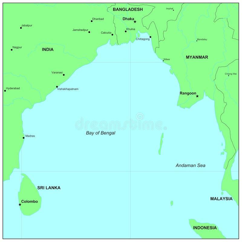 Mar de Andaman ilustração do vetor