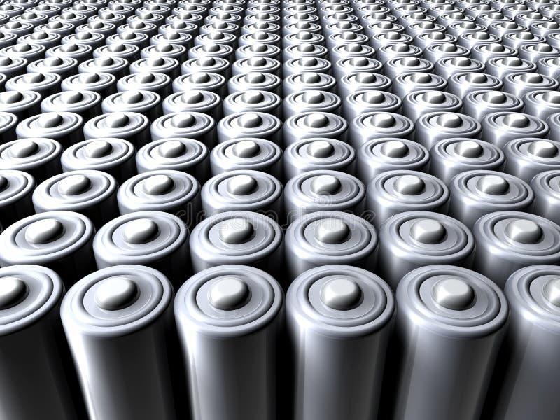 Mar de baterías ilustración del vector