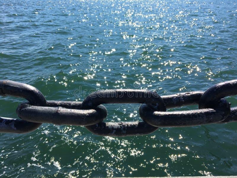 Mar de cadenas imagen de archivo