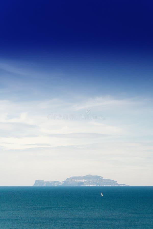 Mar de Capri foto de stock