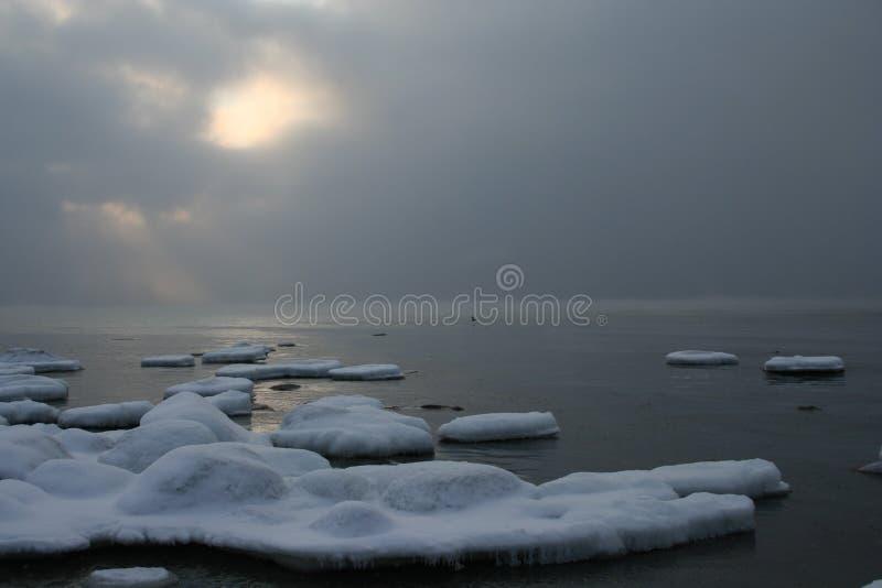 Mar de congelación imagenes de archivo
