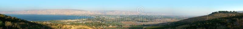 Mar de Galilee e o vale do rio Jordão fotografia de stock royalty free