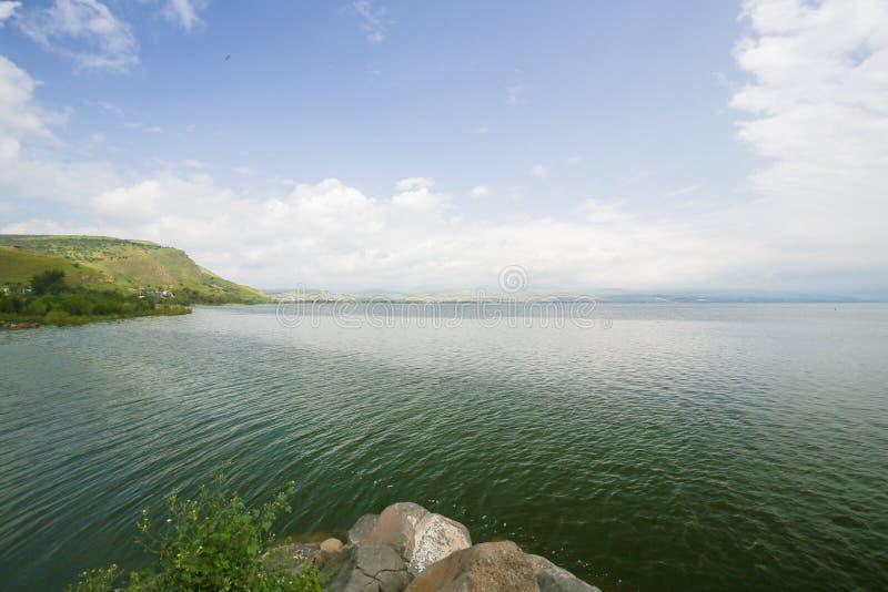 Mar de Galilee em Tiberias, Israel foto de stock royalty free