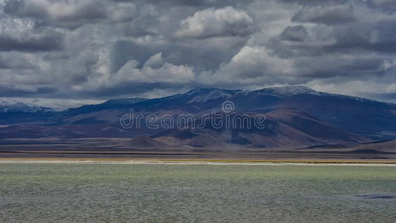 Mar de sal do deserto de atacama do Chile fotos de stock