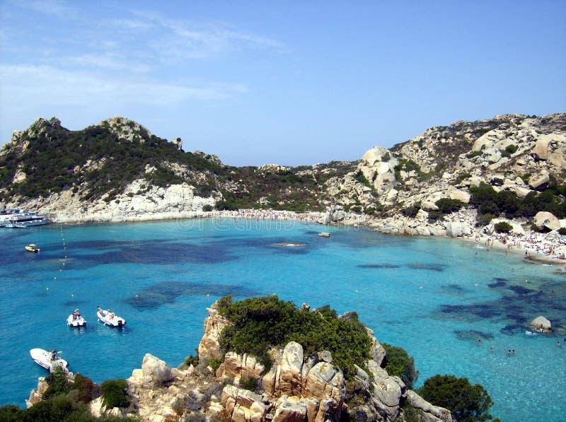Mar de Sardinia imagens de stock