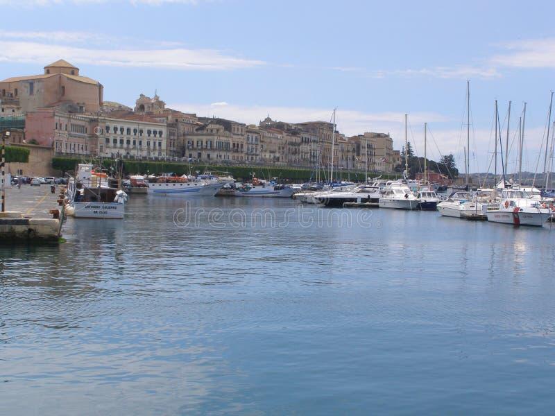 Mar de Sicilia Syracuse Italia Mediterrean fotos de archivo