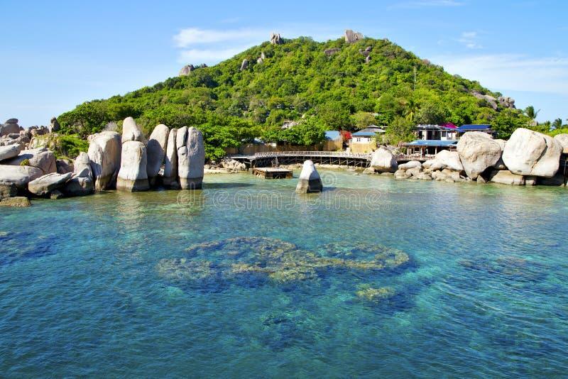 mar de Tailândia do barco de tao do kho de Ásia foto de stock