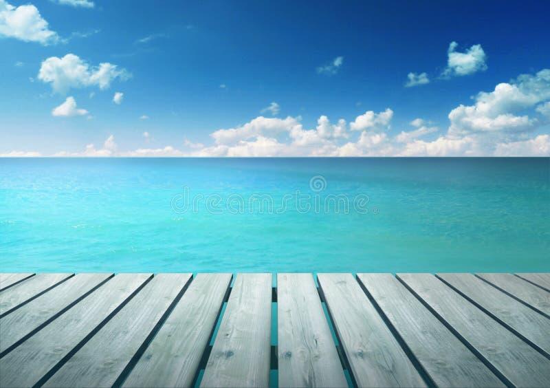 Mar de turquesa imagens de stock royalty free