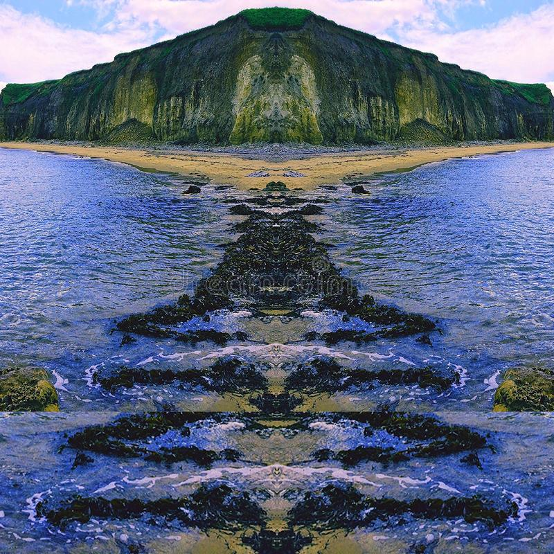 Mar del acantilado fotos de archivo