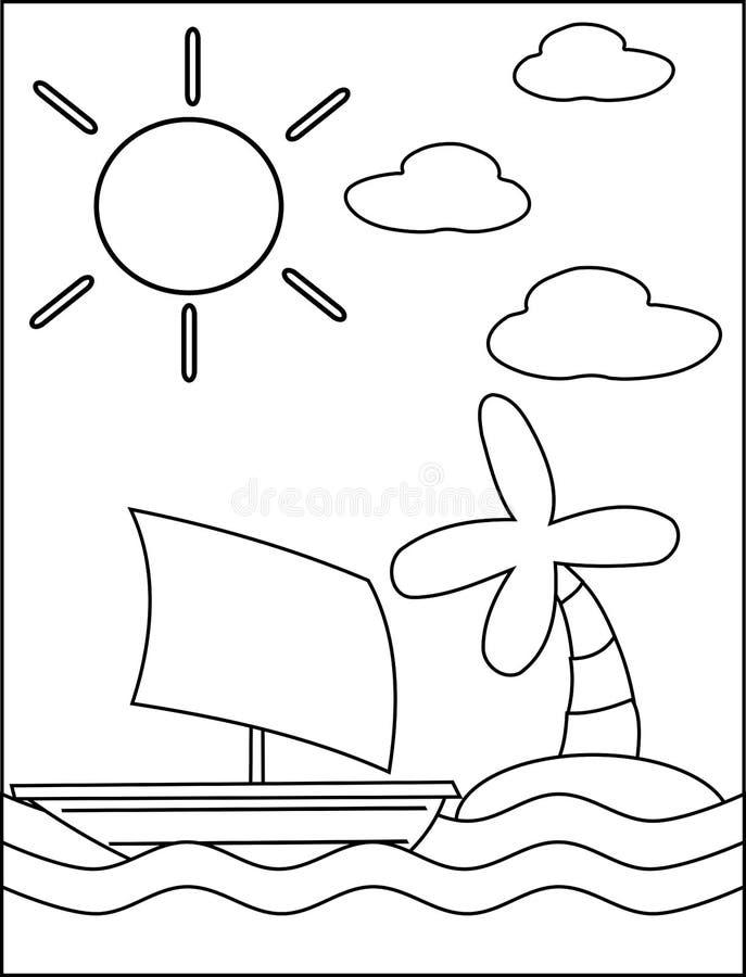 Mar del colorante stock de ilustración. Ilustración de palma - 33679459