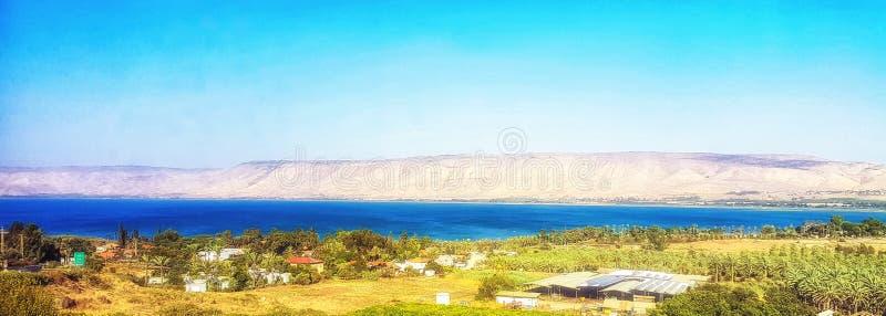 Mar del lago Kinneret y Golan Heights galilee en el fondo Israel fotos de archivo libres de regalías