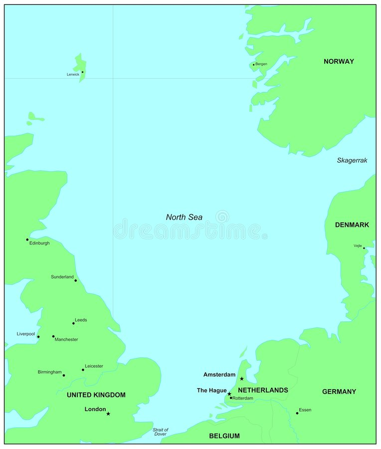 Mar del Norte ilustración del vector
