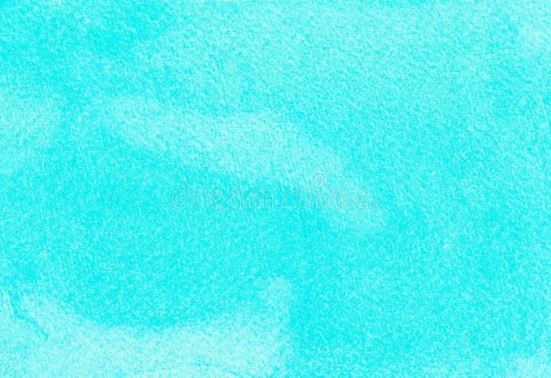 Mar del océano o fondo azul del extracto de la acuarela de la turquesa del azul de cielo Terraplén horizontal de la pendiente del stock de ilustración