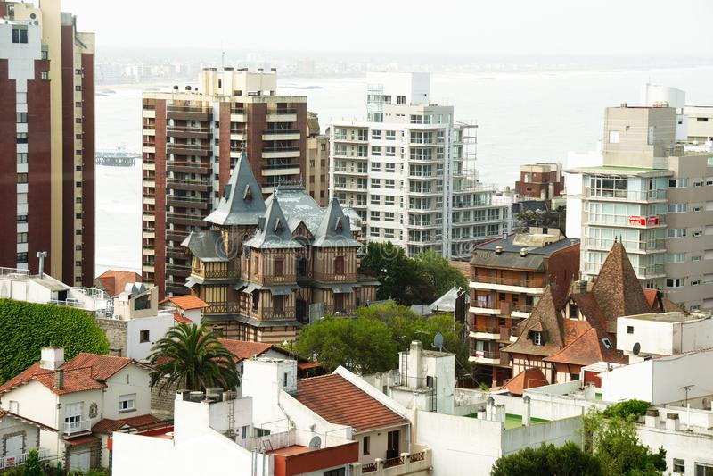 Residential neighborhood in Mar del Plata royalty free stock image
