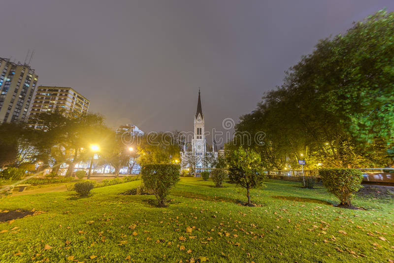 Mar del Plata's Cathedral, Buenos Aires, Argentina. St. Peter and St. Cecilia (San Pedro y Santa Cecilia) Cathedral in the coastal city of Mar del Plata in royalty free stock photography