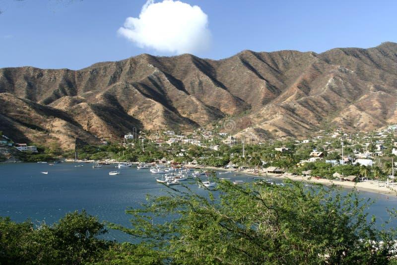 Mar do Cararibe. Louro de Taganga. Colômbia. fotos de stock royalty free