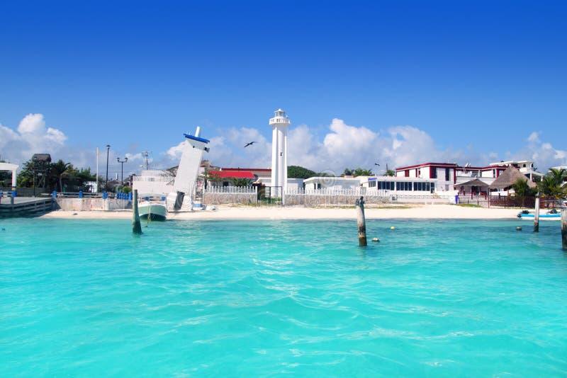 Mar do Cararibe maia de riviera da praia de Puerto Morelos imagem de stock