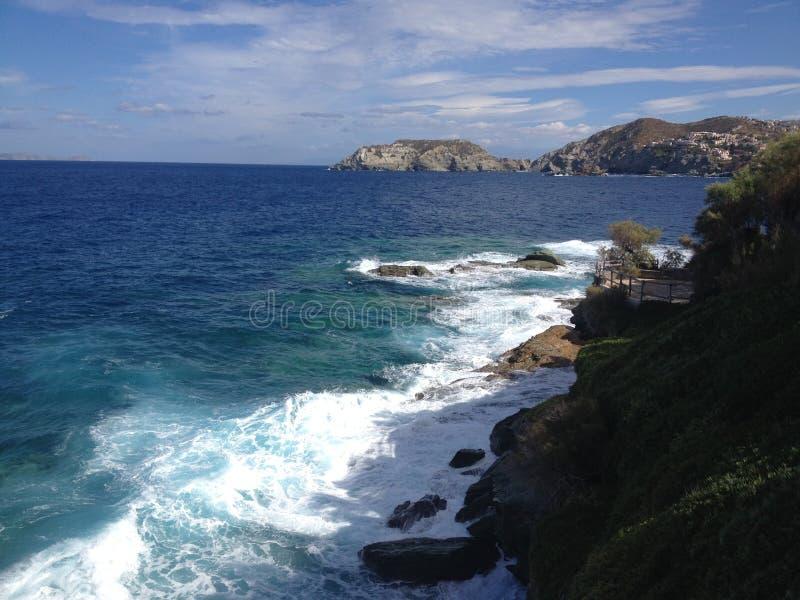 Mar do Cretan fotografia de stock