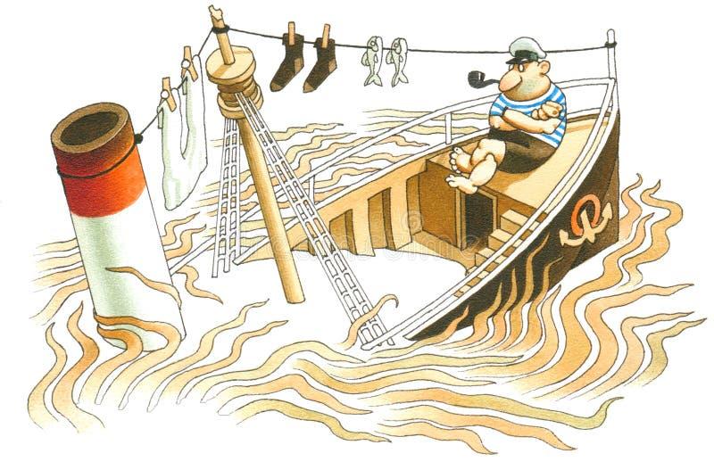 Mar do sargaço ilustração do vetor