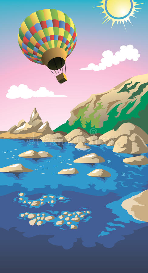 Mar do verão ilustração stock