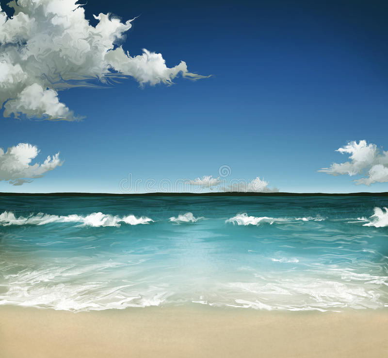 Mar do verão fotos de stock