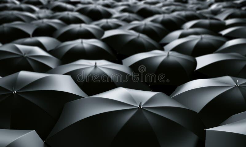 Mar dos guarda-chuvas ilustração stock