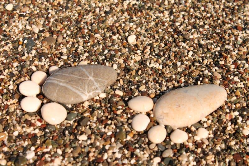 Mar dos seixos foto de stock royalty free