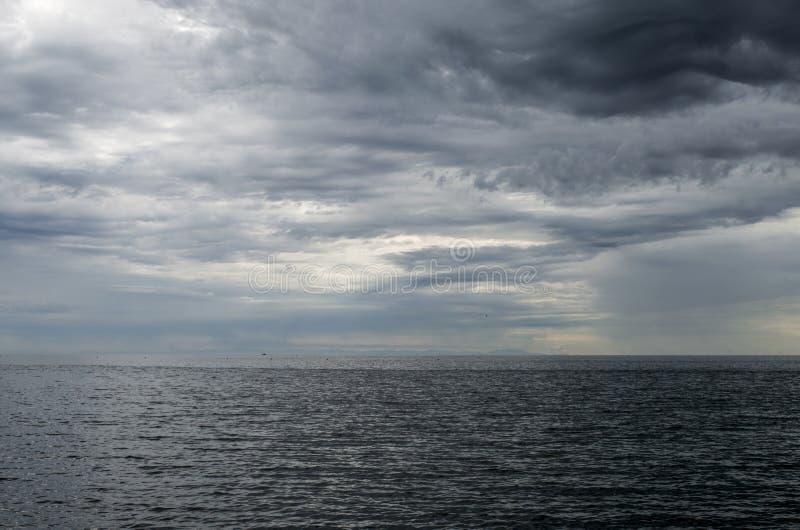 Mar e céu foto de stock