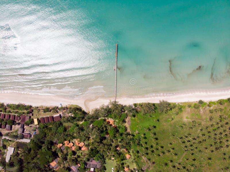 Mar e céu bonitos na ilha do kood do Koh, Tailândia fotografia de stock