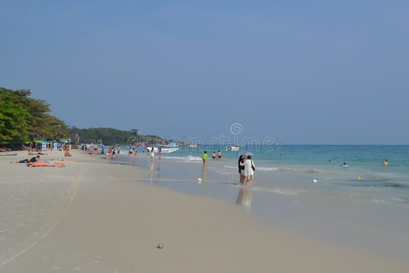 Mar e costa de Summet imagem de stock