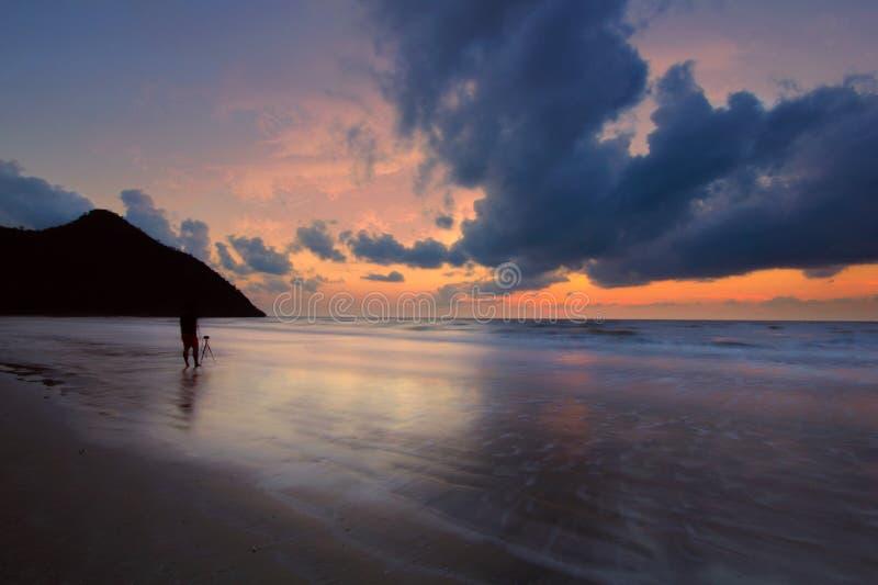 Mar e o céu da manhã imagem de stock royalty free
