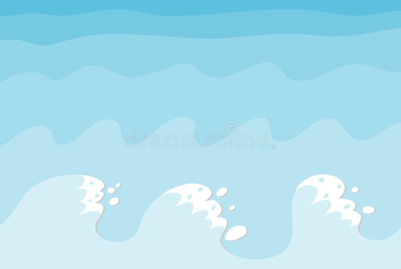 Mar e ondas ilustração royalty free