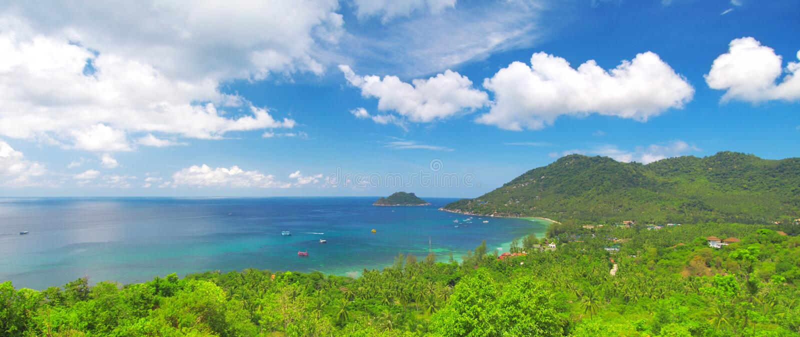 Mar e selva. console bonito de tao do ko. Tailândia imagens de stock royalty free