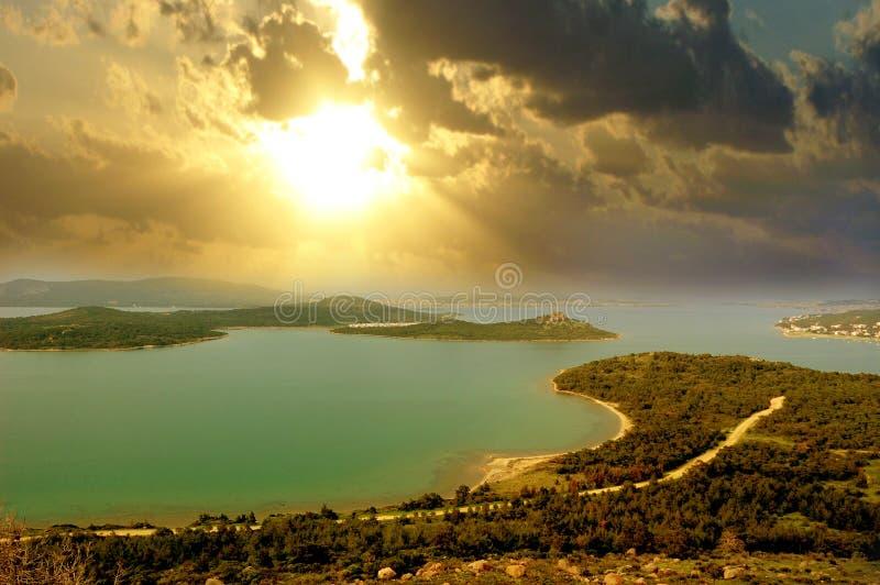 Mar Egeu, Turquia. imagem de stock