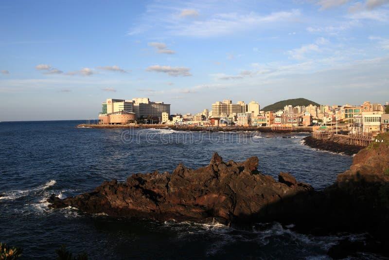 Mar em Coreia do Sul no por do sol fotos de stock