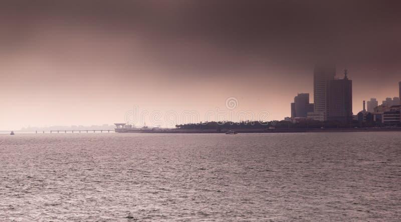 Mar em Qindao fotos de stock