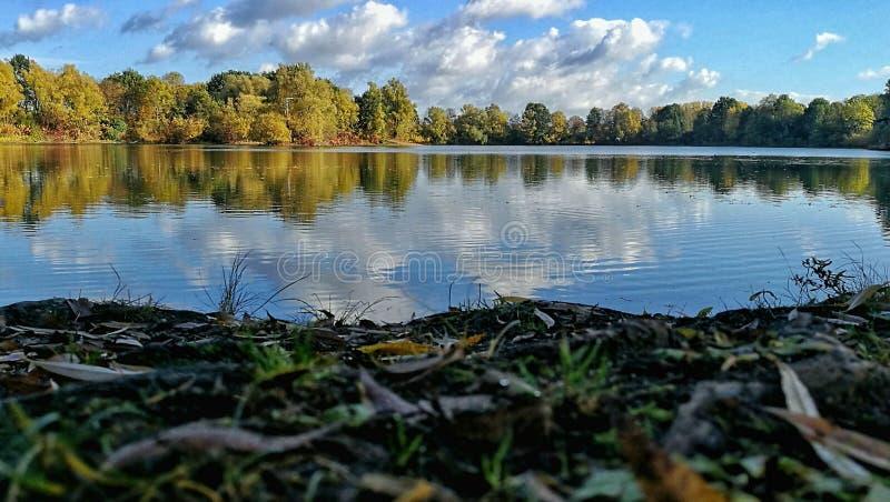 Mar em Rinteln no outono fotos de stock