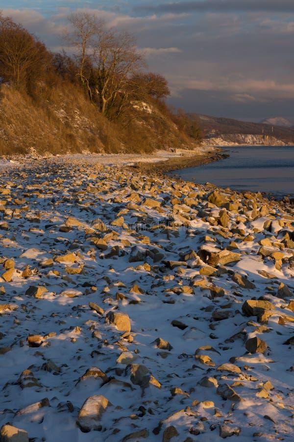 Mar en invierno imagen de archivo
